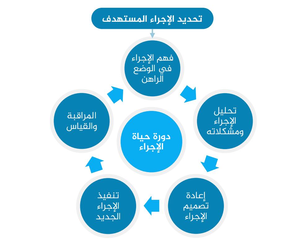 دورة حياة الإجراء